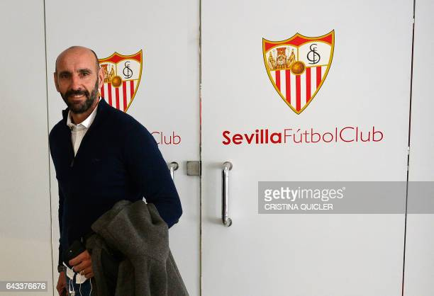 Sevilla's Sports director Ramon Rodriguez Verdejo 'Monchi' poses at the Ramon Sanchez Pizjuan stadium in Sevilla on February 8 2017 There are few...