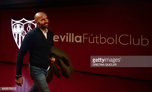 Sevilla's Sports director Ramon Rodriguez Verdejo 'Monchi' walks at the Ramon Sanchez Pizjuan stadium before attending an AFP interview in Sevilla on...