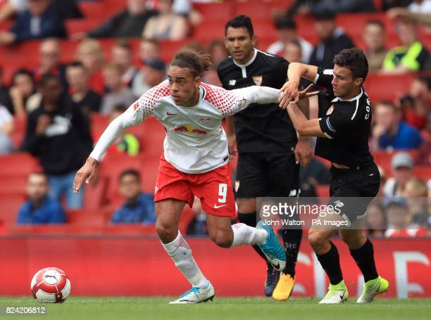 Sevilla's Wissam Ben Yedder during the Emirates Cup match at the Emirates Stadium London