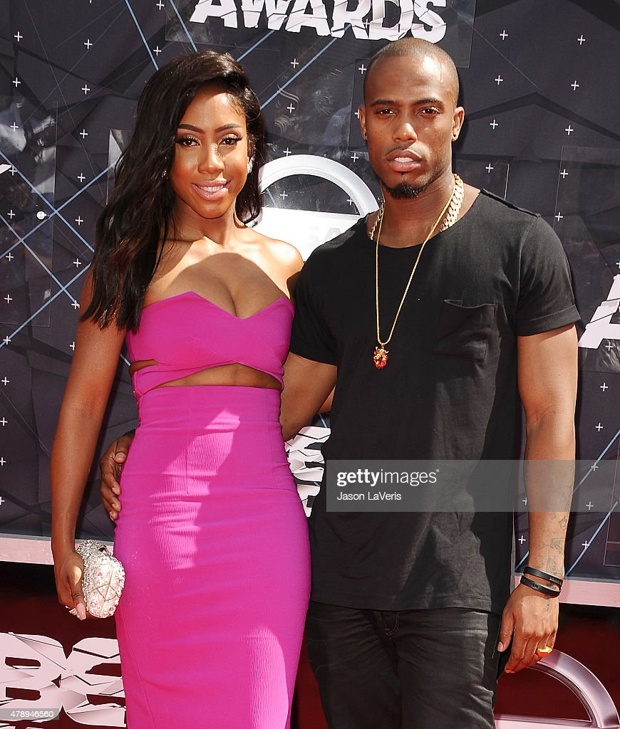 Sevyn Streeter and BoB attend the 2015 BET Awards at the Microsoft Theater on June 28 2015 in Los Angeles California