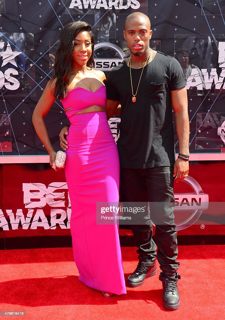 Sevyn Streeter and BOB attend the 2015 BET awards on June 28 2015 in Los Angeles California