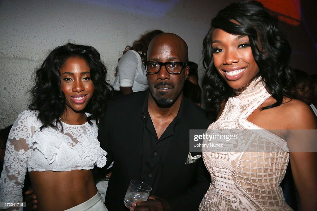 Sevyn Streeter, Mark Pitts and Brandy attend BET Post Party at SupperClub Los Angeles on June 30, 2013 in Los Angeles, California.