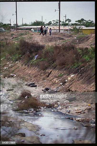 Sewage and Garbage in Drainage Ditch