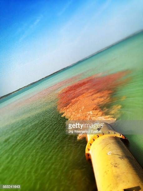 Sewage Pouring Into Sea From Outflow Pipe