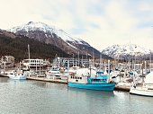 Seward Harbor Resurrection Bay Alaska USA