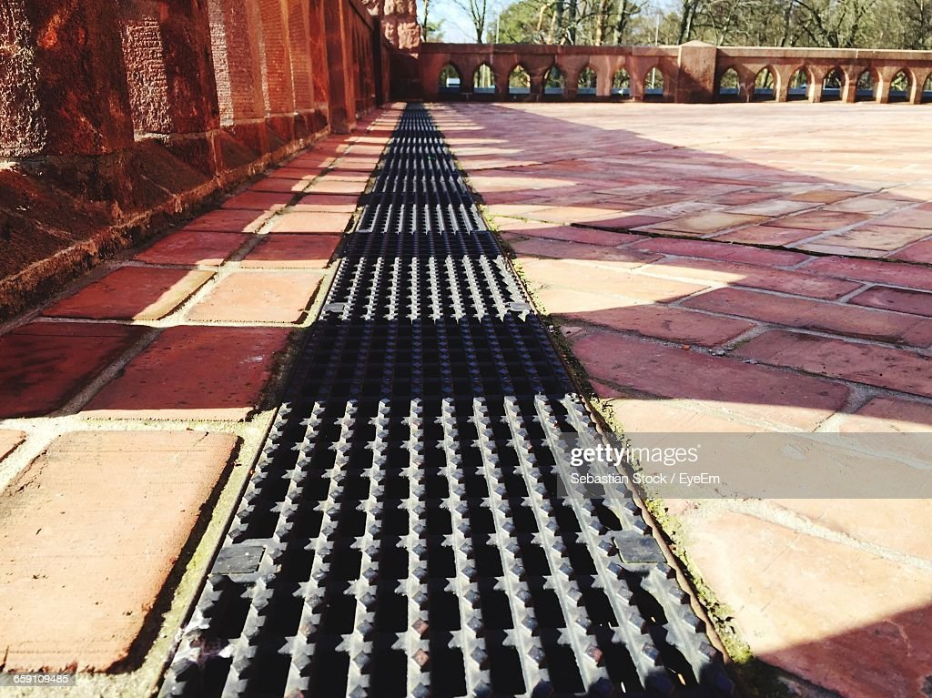 Sewer On Footpath By Building