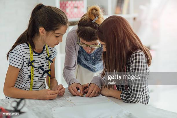 Sewing class for children.