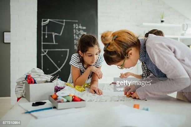 Nähen Klasse für Kinder.