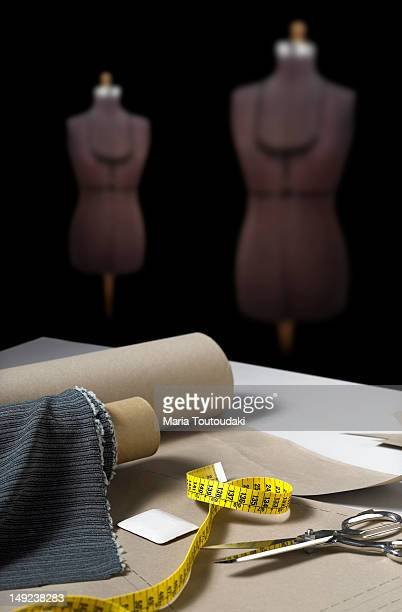 Sewing forms in a tailor's atelier