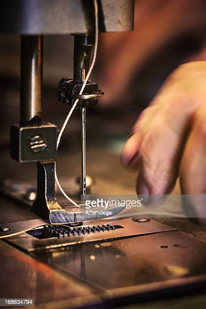 Sewing leather