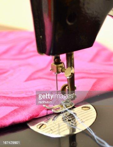 Máquina de Costura e têxteis : Foto de stock