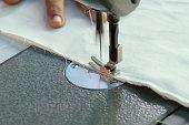 sewing machine,Close up - electric sewing machine.