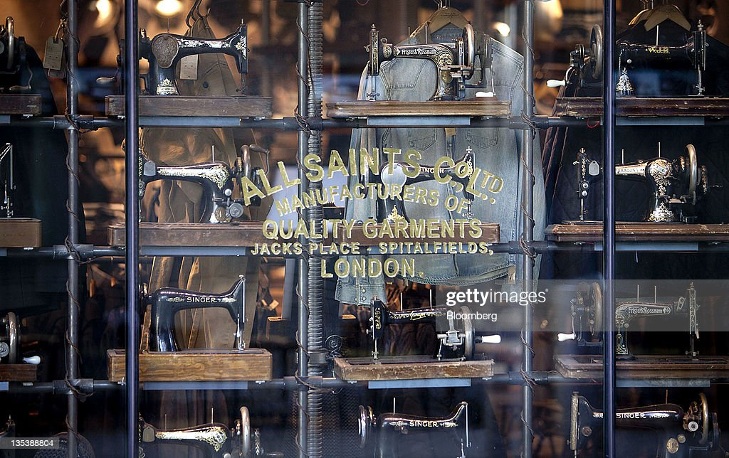 Sewing machines are displayed in the window of AllSaints Retail Ltd. store at the Third Street Promenade outdoor mall in Santa Monica, California, U.S, on Monday, Dec. 5, 2011. Since the Federal Reserve's last meeting early in November, reports on employment, manufacturing and retail sales have dispelled concerns the world's largest economy may slide back into recession. Photographer: Konrad Fiedler/Bloomberg via Getty Images