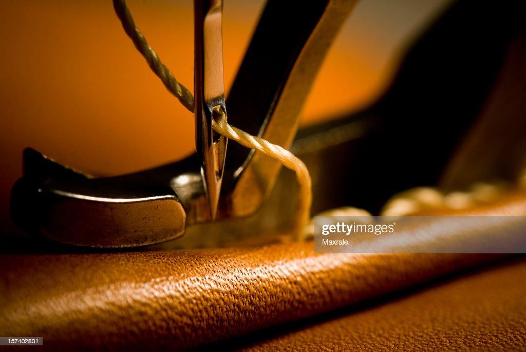 Sewing needle of sewing machine making stitches