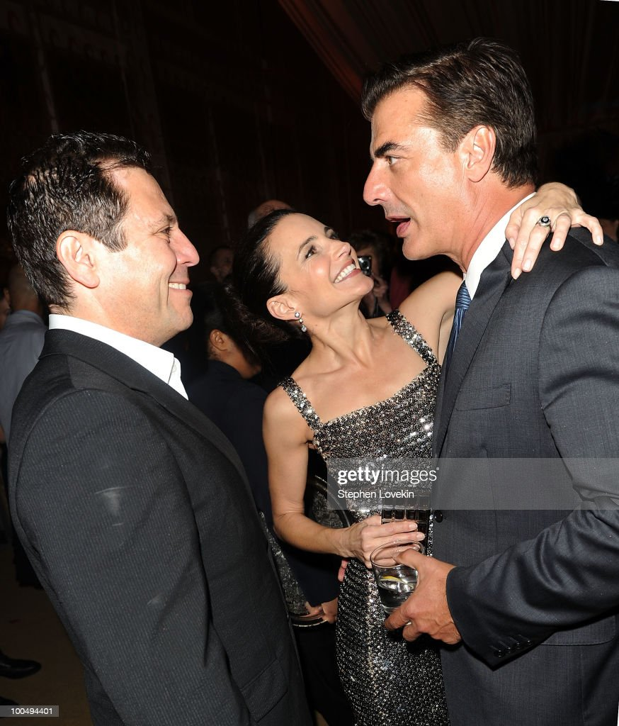 'Sex and the City' creator Darren Star, actress Kristin Davis, and actor Chris Noth attend the after party following the premiere of 'Sex and the City 2' at Lincoln Center for the Performing Arts on May 24, 2010 in New York City.