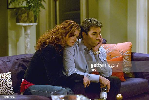 WILL GRACE 'Sex Losers Videotape' Episode 19 Pictured Debra Messing as Grace Adler Eric McCormack as Will Truman Photo by Chris Haston/NBCU Photo Bank