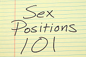"The words ""Sex Positions 101"" on a yellow legal pad"