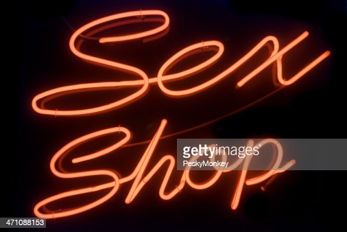 Sex Shop Neon Sign Red Light District