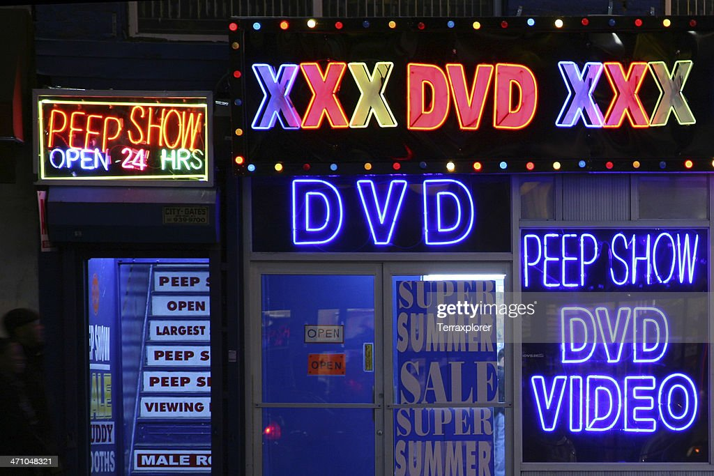 Sex Shop Signs At Night
