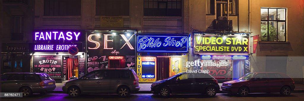Sex shops at Pigale, Paris, France : Stock Photo
