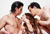 Sexuelle ein Vorspiel drei zusammen