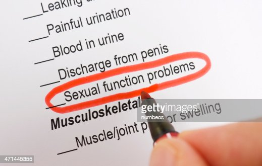 Sexual function problems