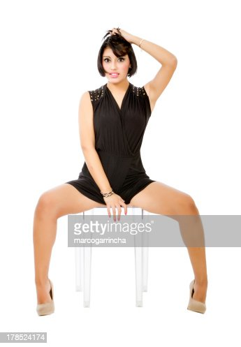 Sexy American Hispanic Woman With Open Legs