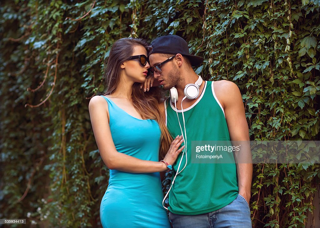 Sexy and fashionable couple : Stock Photo