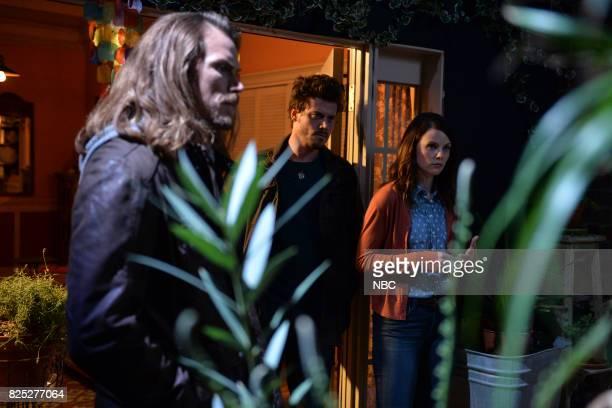 TEXAS 'Sexy Beast' Episode 104 Pictured Jason Lewis as Joe Francois Arnaud as Manfred Sarah Ramos as Creek