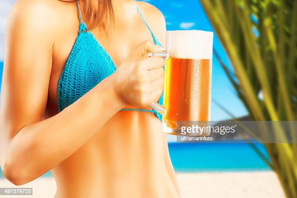 Sexy beer on the beach