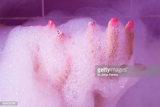 Sexy bubble bath