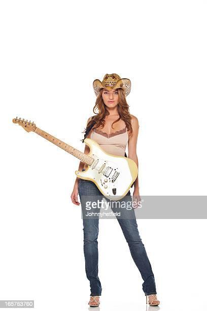 Sexy fille avec sa guitare country