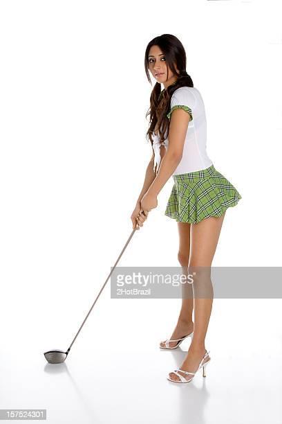 セクシーなゴルフの少女