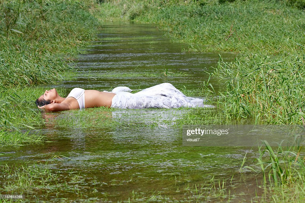 sexy indian woman in the water