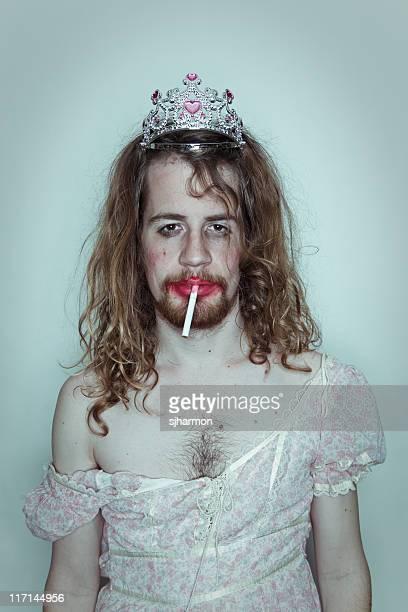 Sexy maschile ballo queen sigaretta trascinare Diadema sulla testa rossetto