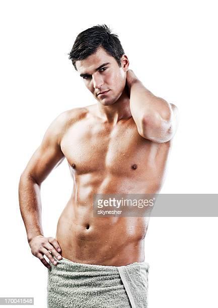 セクシーな男性カメラ目線ます。