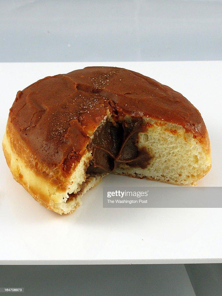 A 'Sexy Mexy' doughnut from Zeke's DC Donutz on March 14, 2013 in Washington, DC.