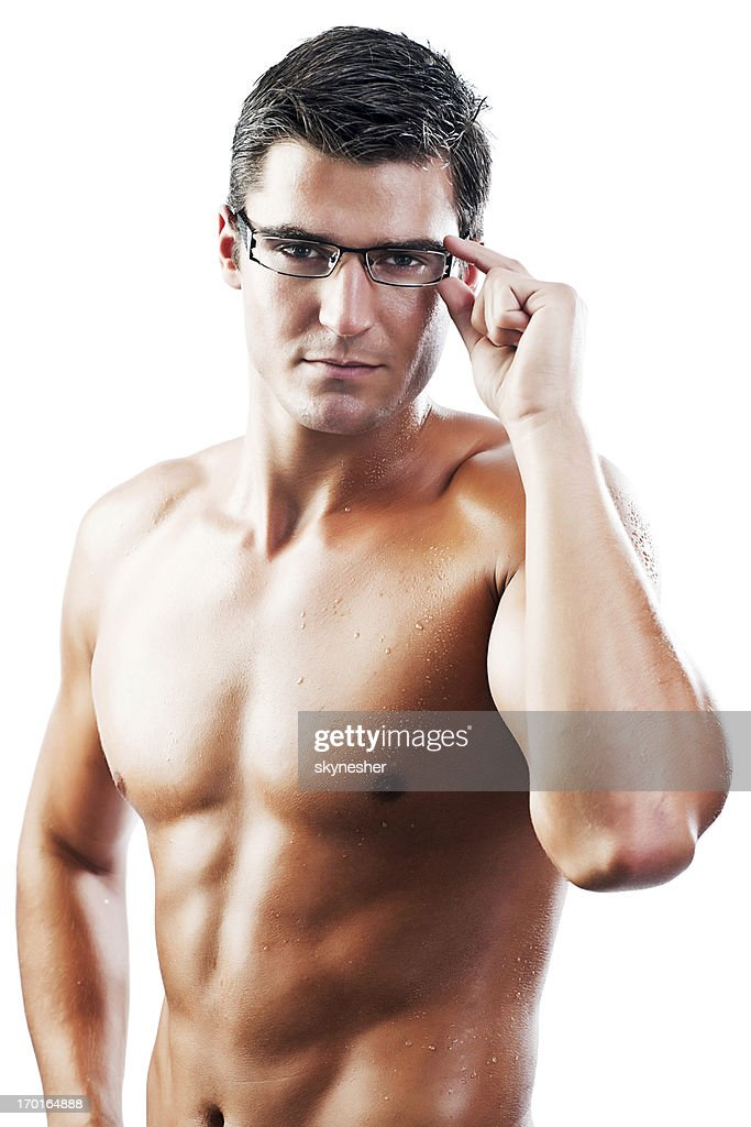 naked guys with glasses