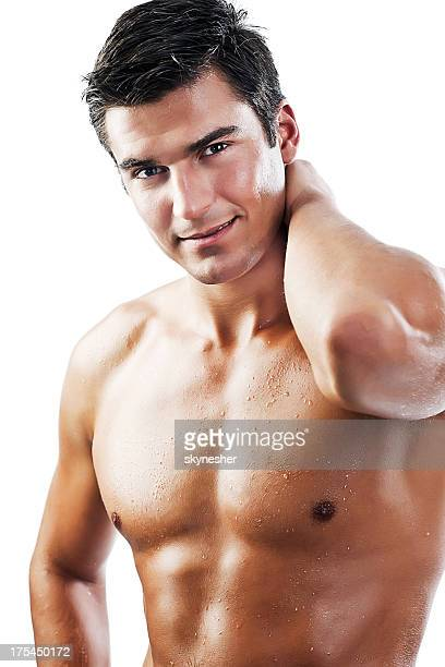 Sexy naked muscular man.