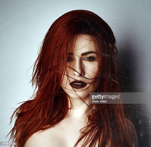 Femme sexy Cheveux roux