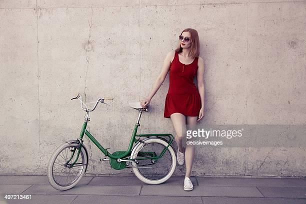 Sexy retro cyclist