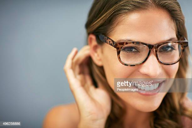 Sexy specs and a stunning smile