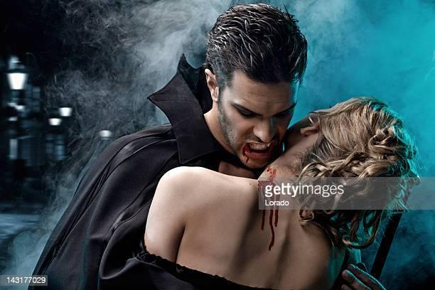 sexy vampire biting victim