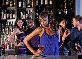 Sexy woman at bar