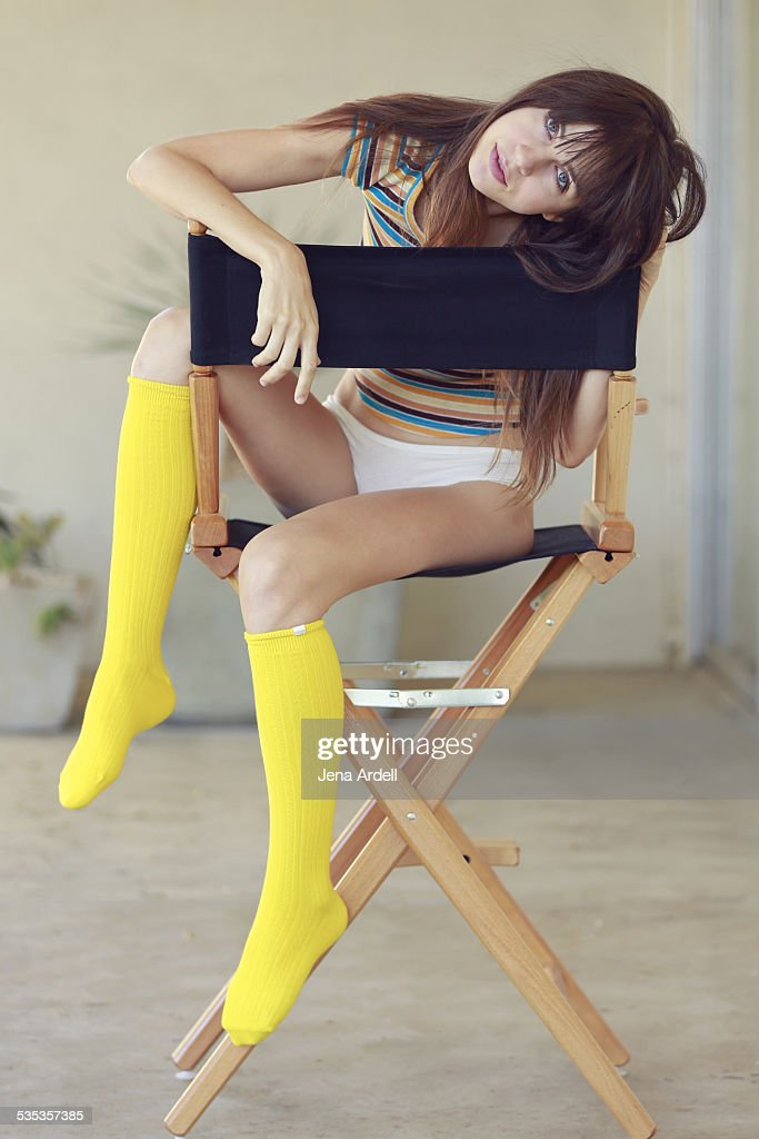 Sexy Woman in Directors Chair