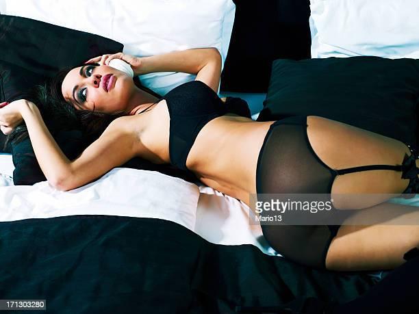 Sexy Frau in Unterwäsche