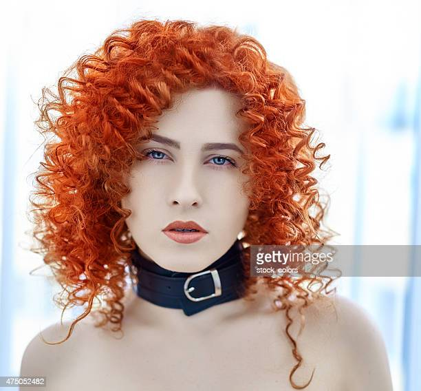 sexy woman with collar