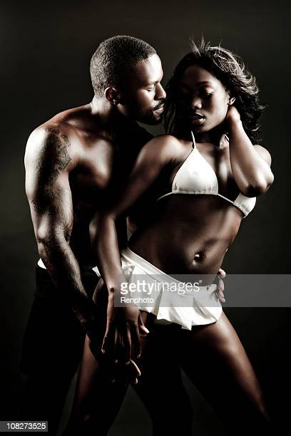 Sexy young African American couple