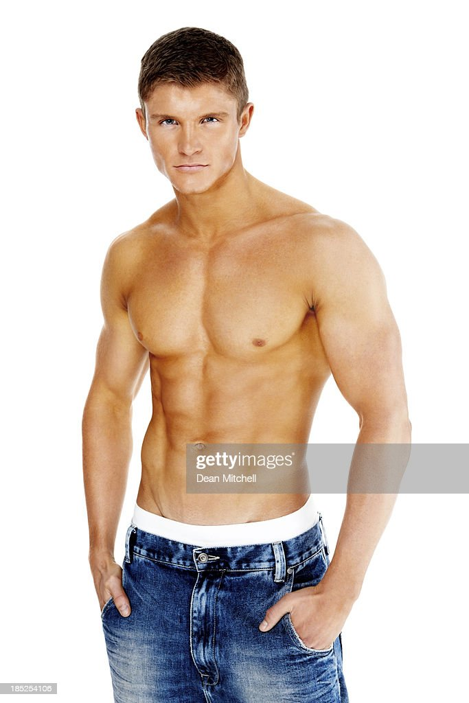 Sexy young muscular man