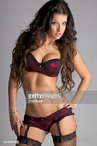 Sexy Young Woman Wearing Bra And Panties Stock Photo | Getty Images